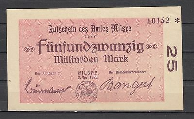 Milspe  -  Amt   -   25 Mrd. Mark