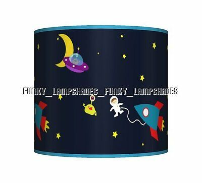 Space Rocket Blue ☆ Ceiling Lampshade ☆ Boys Bedroom Lamp Shade ☆ Matches Duvet