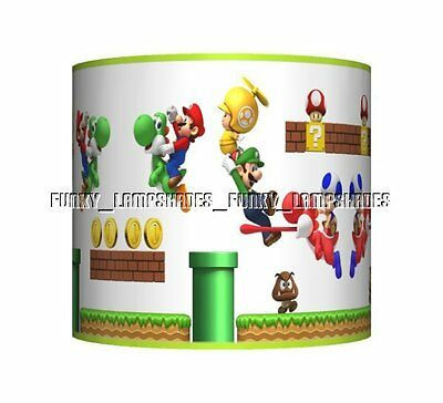 Super Mario Game ☆ Ceiling Lampshade ☆ Boys Bedroom Lamp Shade ☆ Matches Duvet