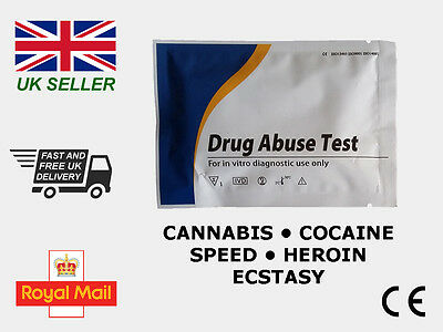 Urine Multi Drug Testing Kit • Cannabis • Cocaine • Speed • Heroin • Ecstasy •