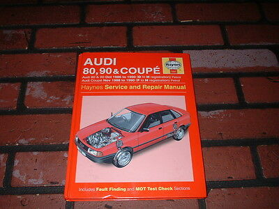 Haynes Manual For Audi 80 90 & Coupe. 1986 To 1990