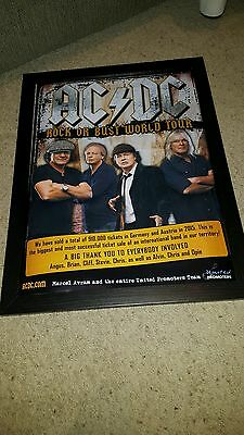 AC/DC Rare Original Rock Or Bust European Tour Promo Poster!