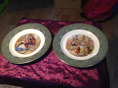 Lord Nelson Pottery Plates 2 Cries Of London Sweet Oranges & Yellow Primroses