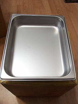 """Case of 12 -- DON--- S/S STEAM TABLE PAN HALF SIZE 2-1/2"""" DEEP -  K9884"""