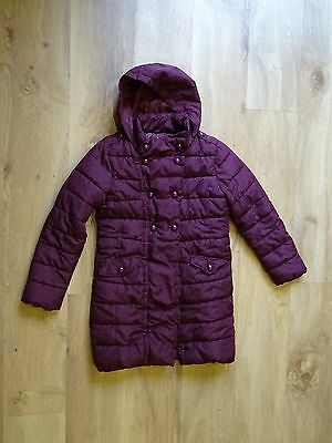 Next girls hooded padded winter cost with hood age 9-10