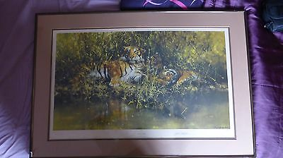 David Shepherd, Sleepy Tigers, Signed Limited Edition of 850 FRAMED