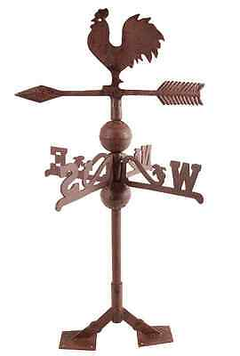 Iron Rooster Weathervane, Used For Telling Wind Direction, Home Garden