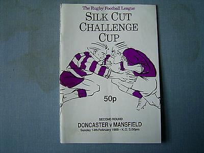 DONCASTER v MANSFIELD Rugby League Cup R2 1987-88