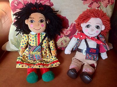 Rosie And Jim Toy - Rosie & Jim Plush Canal Boat Barge Narrowboat Rag Dolls