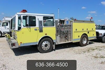 1986 KME Pumper Truck Used Fire Rescue 300 Gallon Tank 1 Owner Very Nice 300 hp