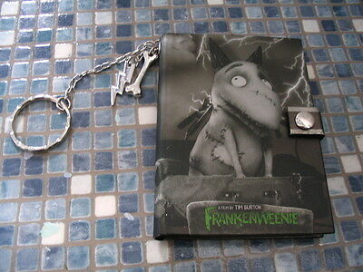 Disney Store Frankenweenie Sparky Keyring With Notebook  Brand New! Very Rare