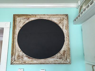 Antique Vintage Distressed Architectural Chalk Board Frame Wall Art