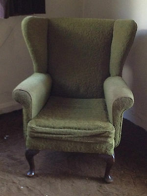 Wing back Queen Anne chair