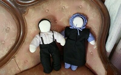 Plush material Amish Dolls boy & girl decorative pieces