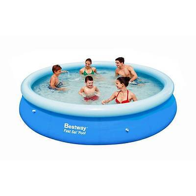 NEW Bestway Inflatable Family 12 Foot Fast Set Pool (366*76cm) #57032