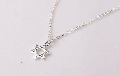 Necklace Star of David 925 Sterling Silver Jewelry Pendant Jewish Judaica