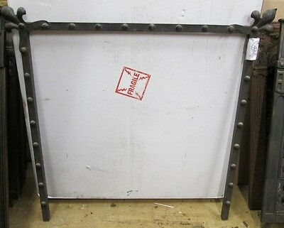Elegant Antique Arts & Crafts Iron Fireplace Surround W/ Nice Design Estate #42