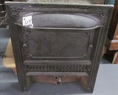 Good Antique Arts & Crafts Full Iron Surround W/cover In Black Estate # 124