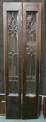Very Elegant Pair Of Antique Beveled Glass Door Side- Lites  Estate # 236