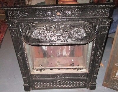 Antique Victorian Full Size Gas Insert Surround Estate # 115 Rare Extra Deep