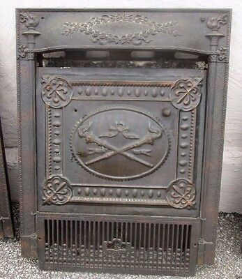 Fine Antique Victorian Iron Surround Classical Design W/summer Cover Estate #127