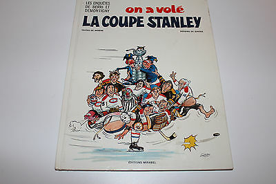 ON A VOLÉ LA COUPE STANLEY Montreal Canadiens COMIC BOOK ** 1975 FRENCH L@@K