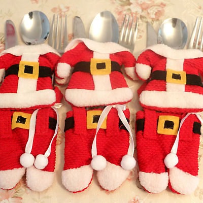 Christmas Cutlery Holder New Set Tableware Suit Covers Fork Spoon Knife Bag