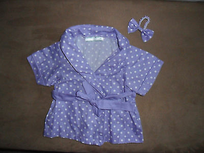 ANIMAL WORKS HANDMADE Clothing for Teddy Bear Set Robe/Headband 3+ 14-18""