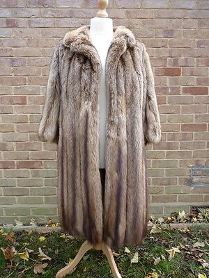 REAL FUR FISHER SABLE size UK 12-14