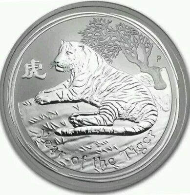 2010 $1 Year Of The Tiger...1 Oz  *silver Lunar Bullion Issue*..scarce.