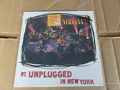 NIRVANA  MTV Unplugged In New York LP UNPLAYED WHITE VINYL ORIGINAL 1ST PRESSING