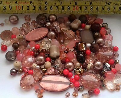 Autumn Mixed Beads 200g Glass, Acrylic, Rondelle-Faceted B20 Jewellery Making