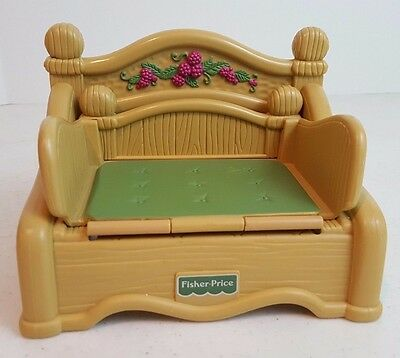 1998 Fisher-Price Briarberry Fold Out Couch Sofa Bed Doll House Furniture