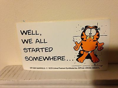 1x Garfield Vintage Car/toy Box Sticker New - What We All Started Somewhere?!