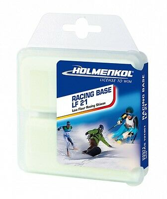 Holmenkol Racing Base LF 21 Low Fluor Ski and Snowboard Wax