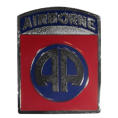 airborne logo metal trailer hitch cover