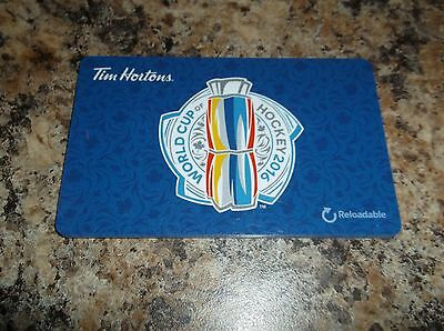 2016 World Cup Of Hockey Reloadable Tim Hortons Tim Card Zero Dollars
