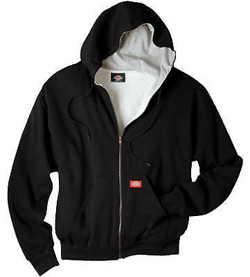 WILLIAMSON DICKIE MFG. Thermal Fleece Jacket, Hooded, Black, Men's L