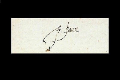 Sir Francis Bacon Autograph Reprint On Genuine Original Period 1610s Paper