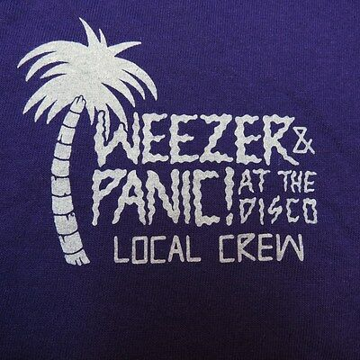 NEW WEEZER PANIC AT THE DISCO LOCAL CREW CONCERT TOUR T SHIRT Sz XL Rivers Cuomo