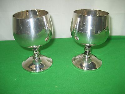 Vintage Goblet Cocktail Roma S.L Spain Silver Factory Made in Madrid