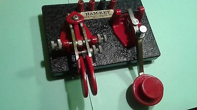 DOUBLE KEY ham radio morse code key in perfect condition US-made CW heavy duty