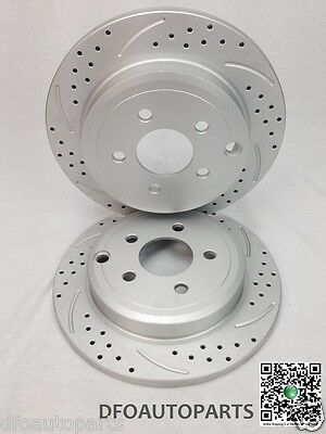 Ford Falcon BA BF FG 08-on, 298mm Coated Slotted Drilled Front Rotors