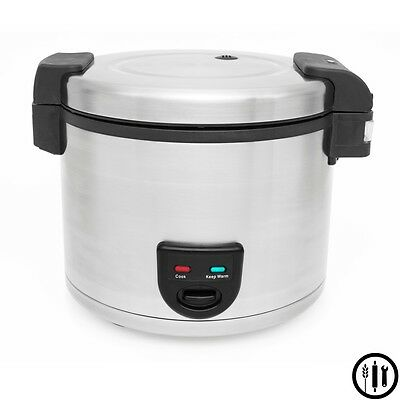 Stainless Steel Commercial Rice Cooker / Warmer- 33 Cup Capacity ETL, NSF