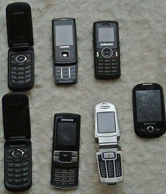 JOB LOT MOBILE PHONES SOME WORKING - UNTESTED (7 Samsung phones ) .0016
