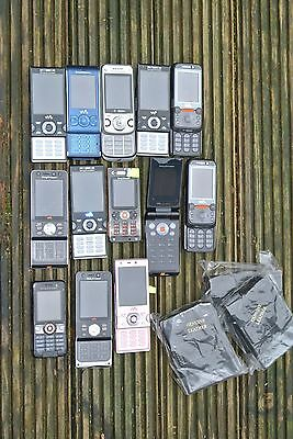 JOB LOT MOBILE PHONES SOME WORKING - UNTESTED (13 Sony Ericsson phones) .005