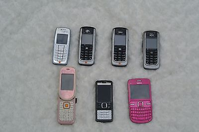 JOB LOT MOBILE PHONES SOME WORKING - UNTESTED (7 nokia phones) .010