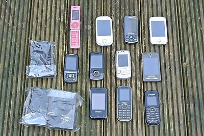 JOB LOT MOBILE PHONES SOME WORKING - UNTESTED (11 samsung) .008
