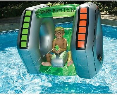 Swimline Starfighter Giant Floating Super Squirter Inflatable Pool Toy Kids Fun