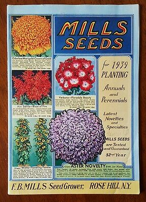 Mills Seed * 1939 Catalog * Rose Hill, New York * Great Color
